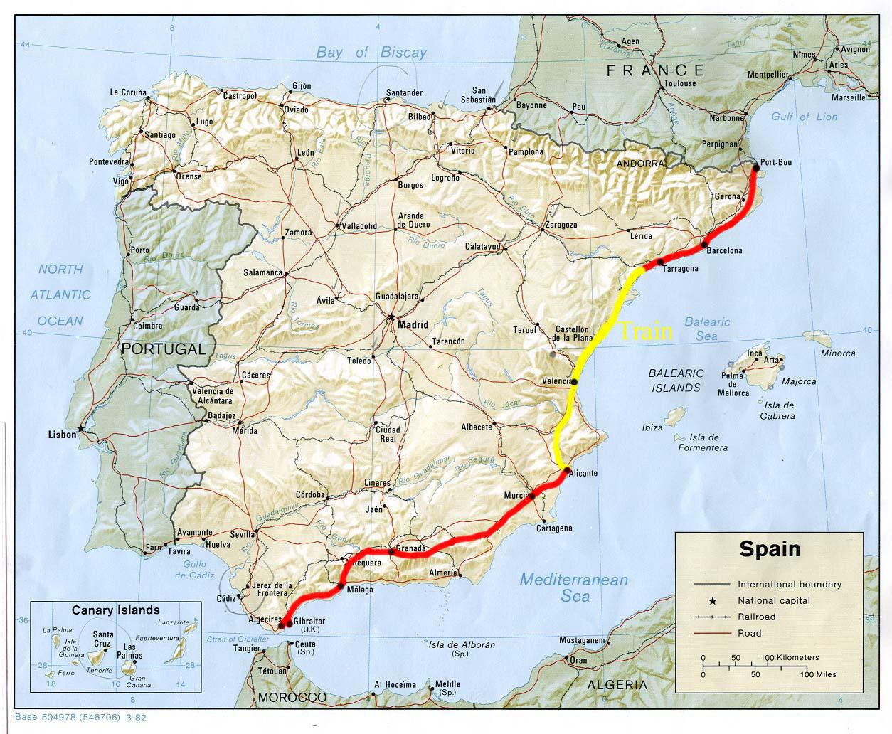 Parcours Espagne